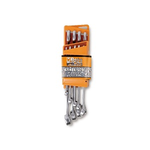 42INOX/SC9 Set of 9 combination wrenches made of stainless steel with compact support