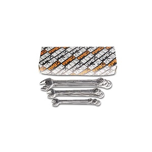 42INOX-AS/S9 Combination wrenches, open and offset ring ends, made of stainless steel
