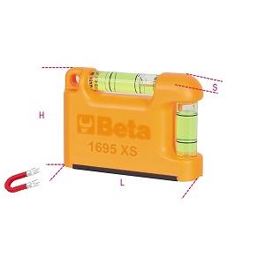 1695XS Pocket spirit level with magnetic V-shaped base