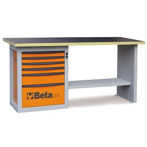 """C59A-5900A """"Endurance"""" workbench with 1 roller cab with six drawers"""