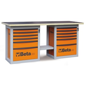 """C59B-5900B """"Endurance"""" workbench with 2 roller cabs with six drawers"""