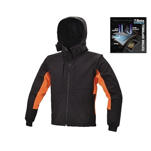 7683 Softshell jacket with detachable hood and sleeves