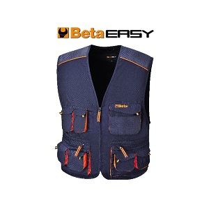 7877E Sleeveless work jacket, multipocket style, lightweight