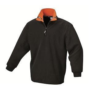 9537N Fleece pullover, black