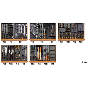 5904VI/2T Assortment of 153 tools in thermoformed tray