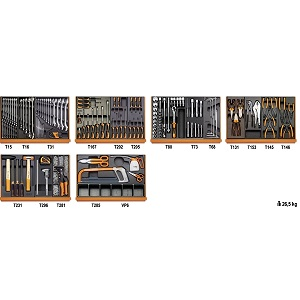 5904VI/3T Assortment of 142 tools - industrial maintenance