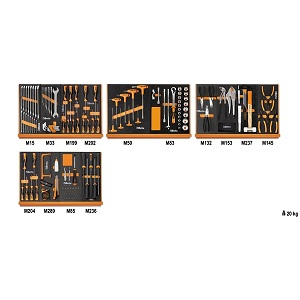 5904VU/2M Assortment of 152 tools - universal maintenance