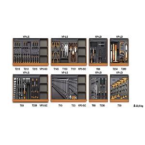 5938U/2T Assortment of 210 tools - universal maintenance