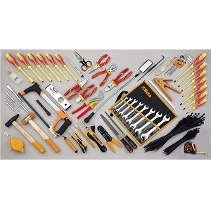 5980ET/B Assortment of 64 tools - electrotechnical maintenance