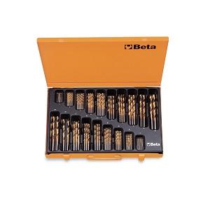 414/C116 Set of twist drills, short series. hss-titanium nitride, in cases