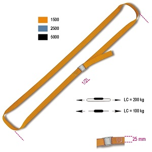 8188F Cam buckle straps, 200 kg