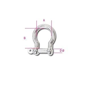 8228 Bow shackles AISI 316