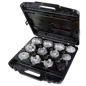 1493/C19 Set of 18 oil filter wrenches, particularly suitable for Asian cars