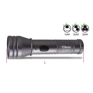 1834PL High-brightness LED torch, made of sturdy, anodized aluminium, up to 500 lumens