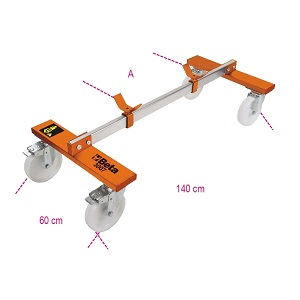 3007 Underbody trolley for vehicles without forecarriage / rear axle
