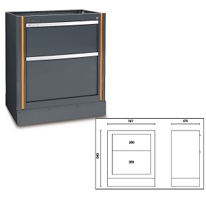 C55M2 Fixed module with 2 drawers, for garage furniture combination