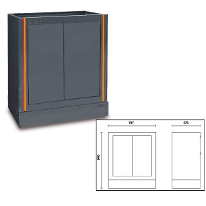 C55MA Fixed two-door module, for garage furniture combination