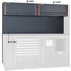C552PM Tool panel with suspended cabinets, for garage furniture combination