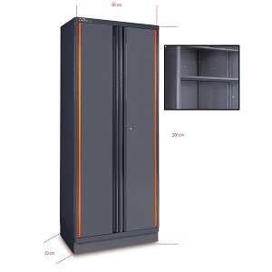 C55A2 Sheet metal two-door tool cabinet, for garage furniture combination