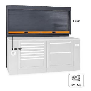 C55PS Tool panel with shutter, for garage furniture combination