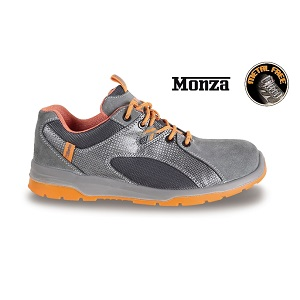7313G suede shoe with nylon mesh and PU inserts