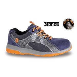 7313B suede shoe with nylon mesh and PU inserts