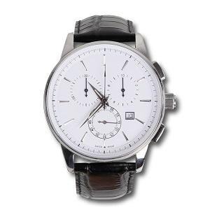 9593CV Quartz chronograph, 42.5 mm steel case, 5 ATM water resistant, calendar, leather strap