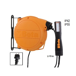 1846LED/BM Automatic cable reel with LED inspection lamp, 100-240 Vac