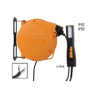 1846LED/ABM Automatic cable reel with LED inspection lamp, 12-24V AC/DC