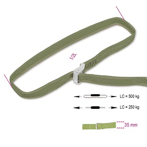 8188VF/35 cam buckle straps, LC 500 kg, high-tenacity polypropylene (PP) belt