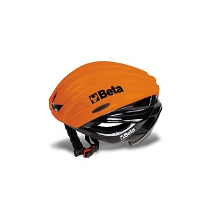 9539C/B Protective cycling helmet, outer cap made of polycarbonate, inner cap made of black, high-density EPS, adjustable size 54-62, circumference wheel adjustment