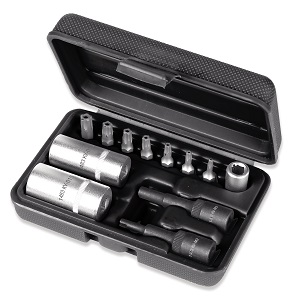 1483K/12 Kit for removing valves from air-conditioning system with set of five-star head bits
