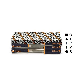 1719BMA12/S5 Set of 5 second-cut files, with handles