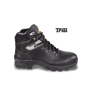 7208WR Leather ankle shoe, waterproof, with durable rubber outsole and quick opening system WR - water resistant footwear