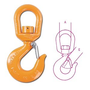 8063 Lifting swivel hooks (in unloaded condition) high-tensile alloy steel