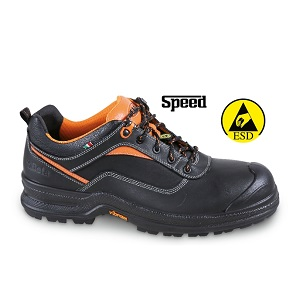 7290NA Full-grain leather, shoe, waterproof, with reinforcement polyurethane toe cap cover and PUT/PTU VIBRAM® outsole. ESD