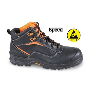 7291NA Full-grain leather ankle shoe, waterproof, with reinforcement polyurethane toe cap cover and PU/PTU VIBRAM® outsole. ESD