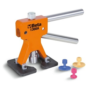 1366A Dent puller with kit of 19 plastic glue tabs