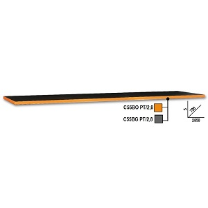 C55B PT/2,8 2.8-m-long worktop, for workshop equipment workbench