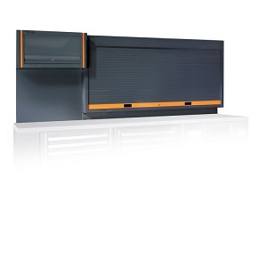 C55PP Tool wall system with shutter and suspended cabinet, for workshop equipment combination