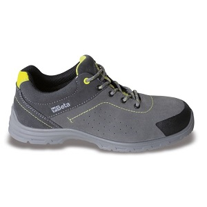 7212FG Suede shoe, perforated, with anti-abrasion insert in toe cap area