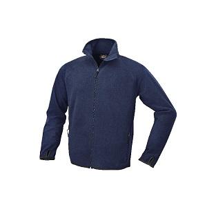7636BL Microfleece sweater, long-zipped