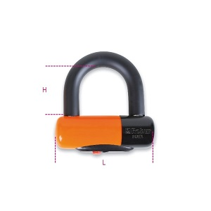 8139DL Motorcycle disc locks, made of hardened steel, shockproof PVC, blister-packed