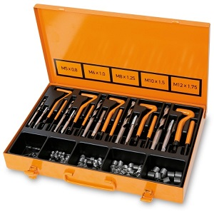 437U/09 Assortment for repairing damaged threads M5-M6-M8-M10-M12