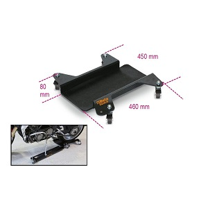 3053 Motorcycle stand base with non-slip rubber cover
