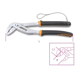 1048BM-HS Slip joint pliers, boxed joint, bimaterial handles H-SAFE