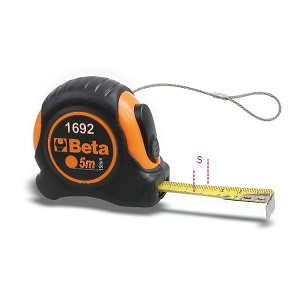 1692HS measuring tapes, shock-resistant bi-material ABS casings, steel tapes, with H-SAFE tethered system