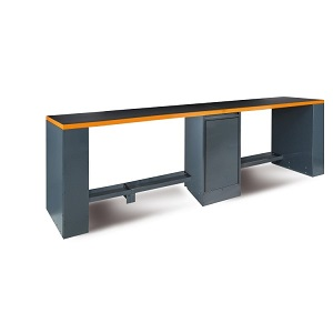 C55B-D4 Double 4-m-long workbench with central leg
