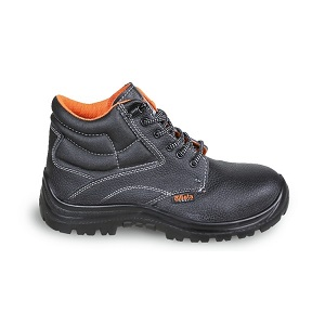 7243EN Leather ankle shoe, water-repellent, with quick opening system