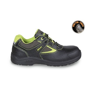 7220PEK Leather shoe, water-repellent, with nylon insets and anti-abrasion reinforcement in toe cap area